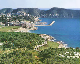 Moraira Village and the Bay of Moraira from the West.
